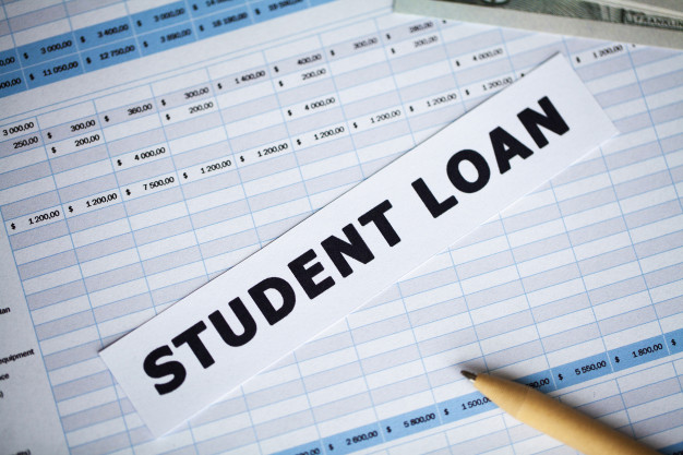 credit student loan written white card 118454 7394